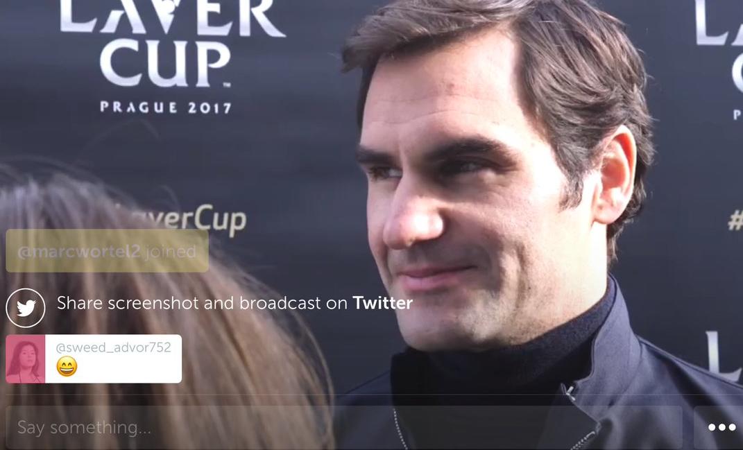 Periscope Roger Federer