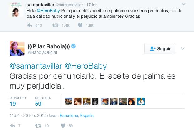 pilar rahola hero twitter samanta villar aceite palma