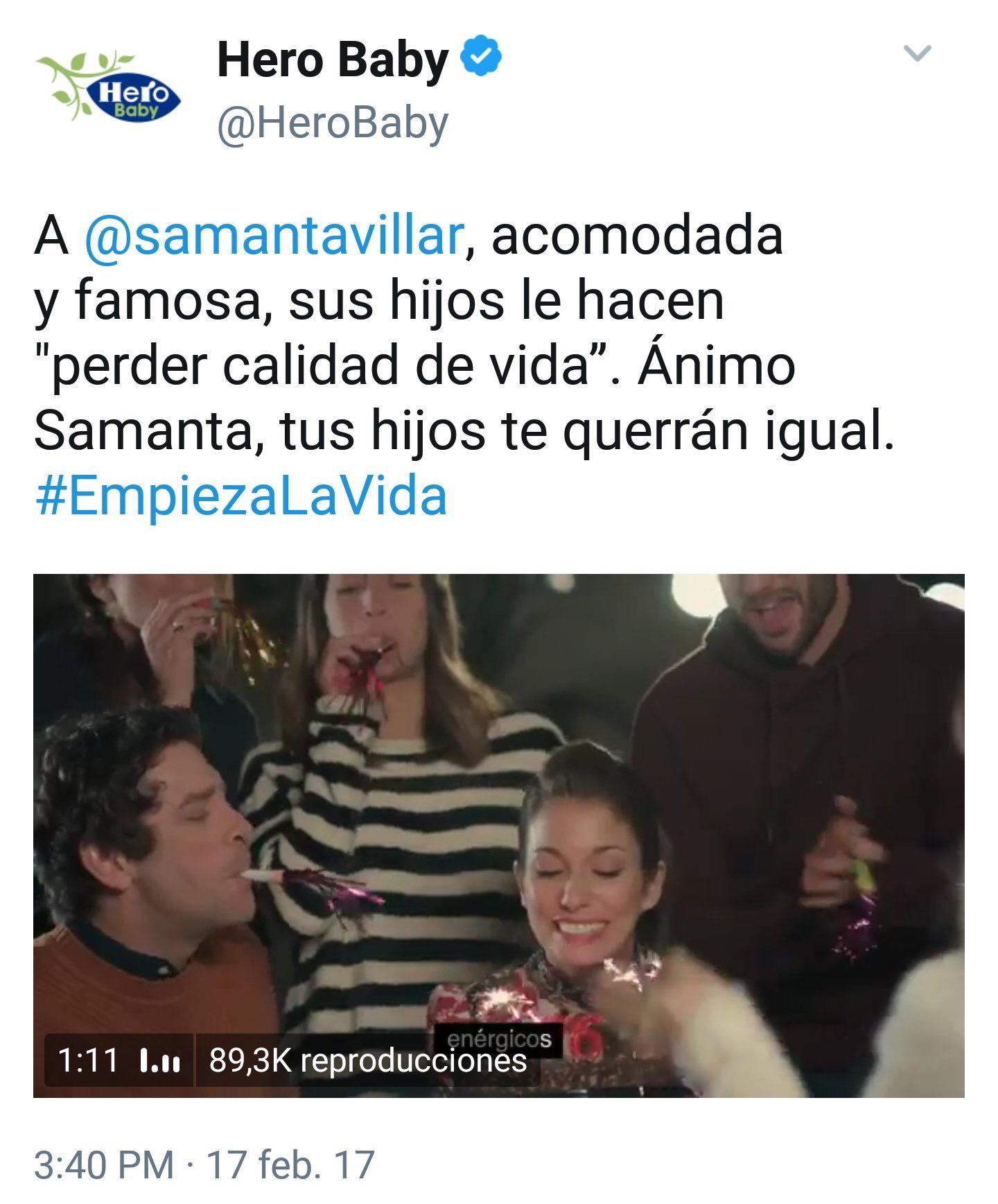 twitter hero españa tuit samanta villar