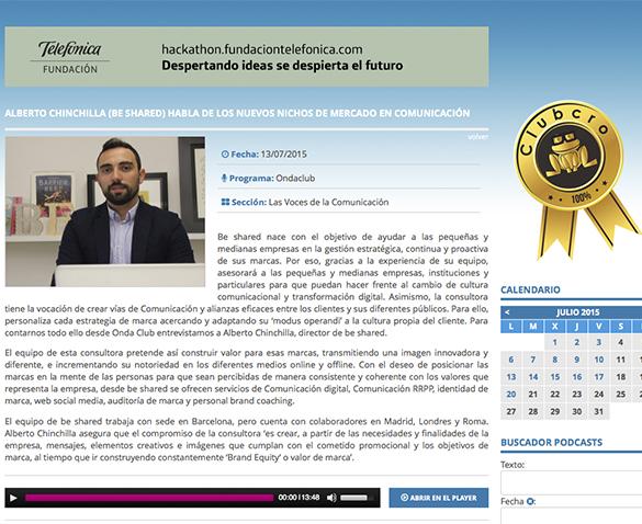 Alberto Chinchilla habla de nuevos nichos de mercado en comunicación