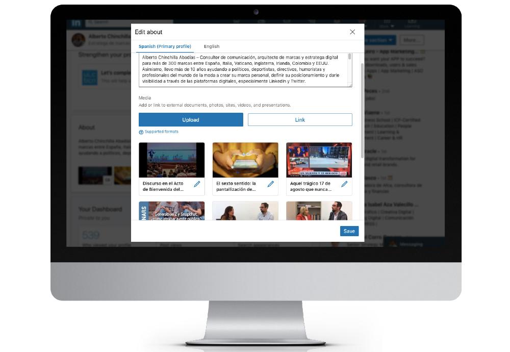 como subir videos a mi perfil de linkedin editar crear un video online pagina page how to upload videos to my linkedin profile edit create a video download descargar
